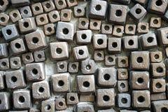 块陶瓷砖样式抽象背景 免版税图库摄影