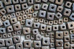 块陶瓷砖样式抽象背景 库存照片
