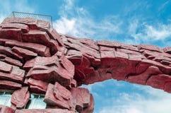 700块非洲曲拱花岗岩另外百万块纳米比亚老spitzkoppe石头比几年 图库摄影