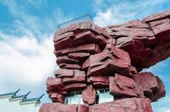 700块非洲曲拱花岗岩另外百万块纳米比亚老spitzkoppe石头比几年 免版税库存照片
