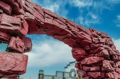 700块非洲曲拱花岗岩另外百万块纳米比亚老spitzkoppe石头比几年 免版税库存图片