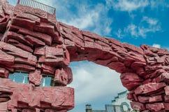 700块非洲曲拱花岗岩另外百万块纳米比亚老spitzkoppe石头比几年 库存图片