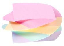 块颜色便条纸 免版税库存图片