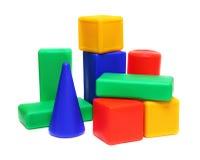 块颜色meccano玩具 免版税库存图片
