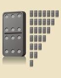 块Domino比赛 免版税库存照片