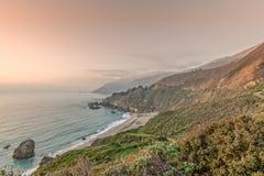 坚固性加利福尼亚大瑟尔海岸 库存图片