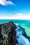 坚固性岩石和开普角峭壁好望角自然保护的 库存图片