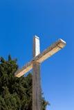 坚固性木十字架 库存照片
