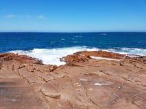 坚固性沿海地质,约克半岛 免版税库存照片