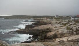 坚固性沿海渔村在新斯科舍 免版税图库摄影