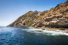 坚固性海岛海岸线 免版税库存照片