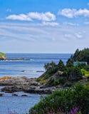 坚固性纽芬兰海岸线 免版税库存图片