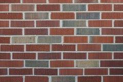 坚实,多彩多姿的砖墙 免版税图库摄影