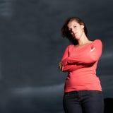 坚强的妇女 免版税图库摄影