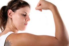 坚强的妇女 免版税库存照片