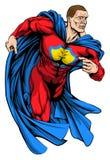 坚强的超级英雄 库存图片