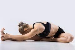 坚硬对膝盖向前弯姿势 库存图片