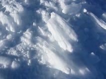 坚硬的冰吹 库存照片
