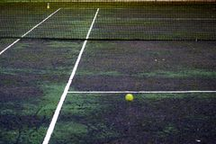 坚硬网球场 免版税库存照片