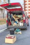 坚硬运转的卡车 免版税库存照片