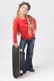 坚韧女孩的溜冰者 免版税库存照片