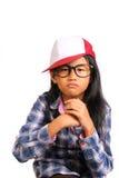 坚韧恼怒的小女孩 免版税库存照片