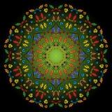 坛场圆的装饰品样式传染媒介 图库摄影