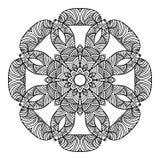 坛场圆的装饰品样式传染媒介 免版税库存照片