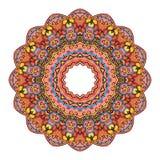 坛场圆的Zentangle装饰品样式传染媒介 免版税图库摄影