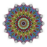 坛场圆的Zentangle装饰品样式传染媒介 免版税库存照片