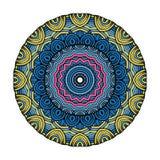 坛场圆的Zentangle装饰品样式传染媒介 库存照片