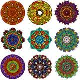 坛场圆的Zentangle装饰品样式传染媒介 图库摄影