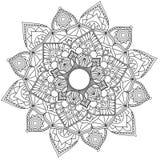 坛场复杂样式黑白心情 向量例证