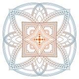 坛场样式色的背景 也corel凹道例证向量 印度瑜伽的凝思元素 装饰的a的装饰品 免版税图库摄影