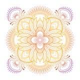 坛场样式色的背景 也corel凹道例证向量 印度瑜伽的凝思元素 装饰的a的装饰品 免版税库存照片