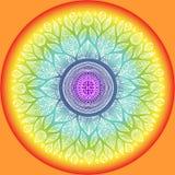 坛场,宇宙的几何标志标志, chakra瑜伽 免版税图库摄影
