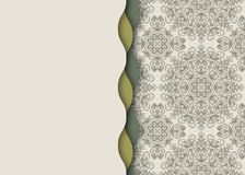 坛场,抽象西藏花背景 无缝的波浪边缘 免版税库存图片