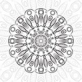 坛场,高度详细的zentangle,例证,种族部族纹身花刺 向量例证
