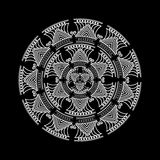 坛场 圆的装饰品样式 装饰要素葡萄酒 免版税库存图片