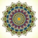 坛场 圆的装饰品样式 向量例证