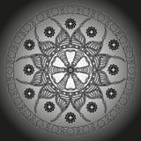 坛场 圆的装饰品样式 库存照片