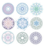 坛场 被设置的花卉坛场 书五颜六色的彩图例证 分级显示 模式 织法设计元素 图库摄影