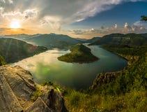 水坝克尔贾利,保加利亚 免版税库存照片