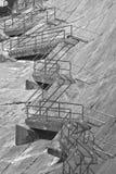 水坝台阶 库存图片