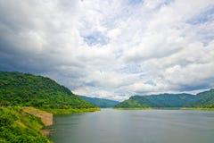 水坝和国家公园在泰国 库存图片