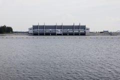 水坝和水库 免版税库存照片