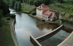 水坝在捷克共和国森林王国 图库摄影