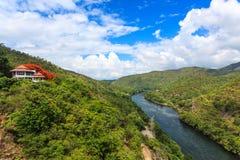 水坝在泰国 库存照片