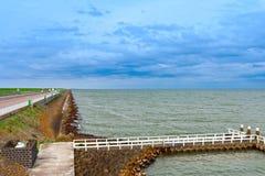 水坝在荷兰 库存图片