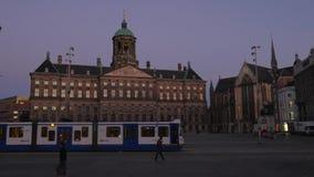 水坝正方形的皇宫在阿姆斯特丹 影视素材